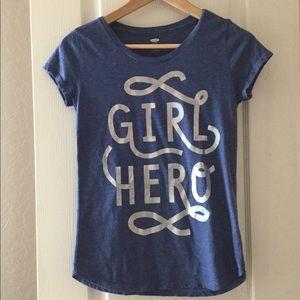 Girls blue old navy shirt